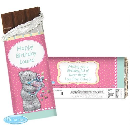 Personalised Me to You Candy Girl Chocolate Bar